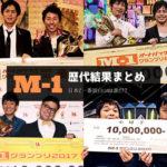 【2001~2019】歴代のM-1グランプリ優勝者と結果まとめ!一番面白い過去の歴代王者は誰?